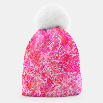 Thumbnail image of Texture Painting  Magenta Beanie, Live Heroes