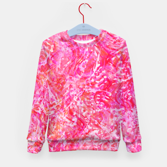 Thumbnail image of Texture Painting  Magenta Kid's sweater, Live Heroes