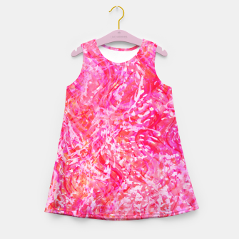 Thumbnail image of Texture Painting  Magenta Girl's summer dress, Live Heroes