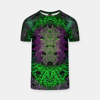 Thumbnail image of Devil In The Mirror (Rave) T-shirt, Live Heroes