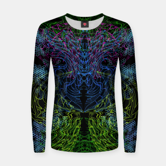 Thumbnail image of Blue Techno Dragon Women sweater, Live Heroes
