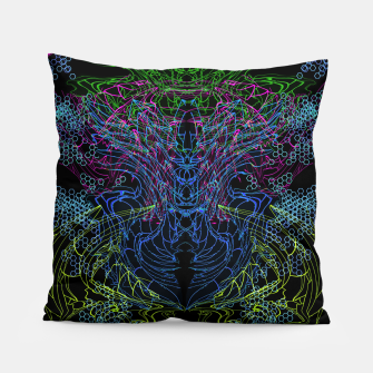 Thumbnail image of Blue Techno Dragon Pillow, Live Heroes