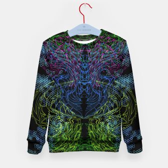 Thumbnail image of Blue Techno Dragon Kid's sweater, Live Heroes
