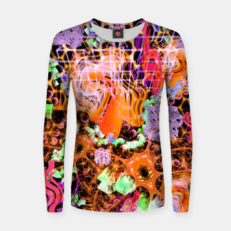 Miniaturka Psychedelic Spacescape (Burnt By The Sun) Women sweater, Live Heroes