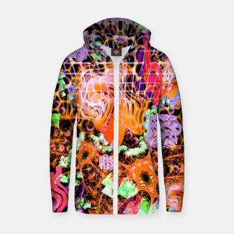 Miniaturka Psychedelic Spacescape (Burnt By The Sun) Zip up hoodie, Live Heroes