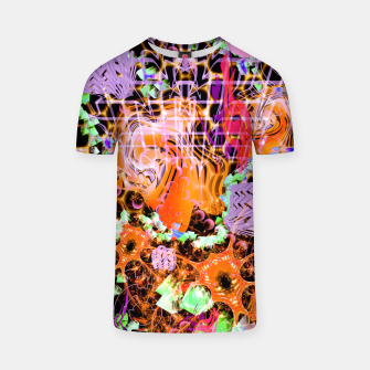 Miniaturka Psychedelic Spacescape (Burnt By The Sun) T-shirt, Live Heroes