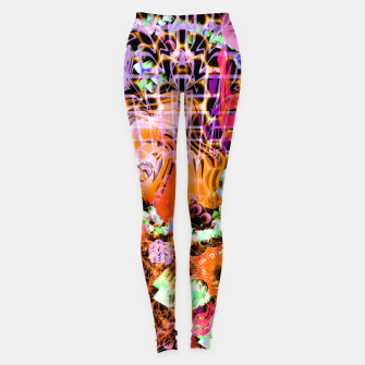 Miniaturka Psychedelic Spacescape (Burnt By The Sun) Leggings, Live Heroes