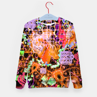 Miniaturka Psychedelic Spacescape (Burnt By The Sun) Kid's sweater, Live Heroes