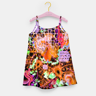 Miniaturka Psychedelic Spacescape (Burnt By The Sun) Girl's dress, Live Heroes