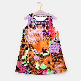Miniaturka Psychedelic Spacescape (Burnt By The Sun) Girl's summer dress, Live Heroes