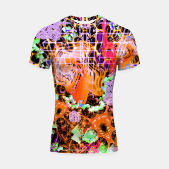 Miniaturka Psychedelic Spacescape (Burnt By The Sun) Shortsleeve rashguard, Live Heroes
