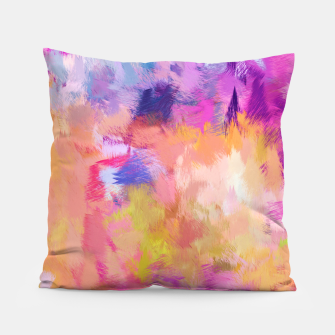Thumbnail image of Painted Mood Pillow, Live Heroes