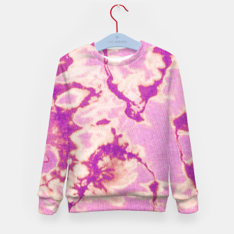 Thumbnail image of Pink Ethnic Tie Dye Kid's sweater, Live Heroes