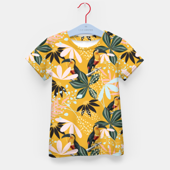 Thumbnail image of Tropical Toucan Garden Kid's t-shirt, Live Heroes