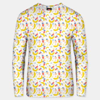 Going bananas over you Unisex sweater thumbnail image