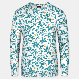 Thumbnail image of The wall of orange buds and blossoms in white Unisex sweater, Live Heroes