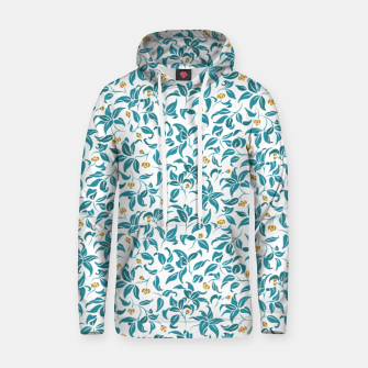 Thumbnail image of The wall of orange buds and blossoms in white Hoodie, Live Heroes