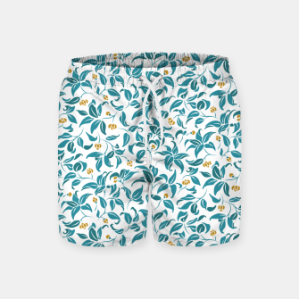 Thumbnail image of The wall of orange buds and blossoms in white Swim Shorts, Live Heroes