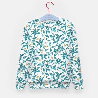 Thumbnail image of The wall of orange buds and blossoms in white Kid's sweater, Live Heroes