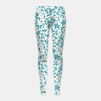 Thumbnail image of The wall of orange buds and blossoms in white Girl's leggings, Live Heroes