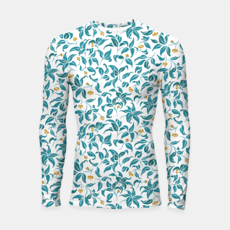 Thumbnail image of The wall of orange buds and blossoms in white Longsleeve rashguard , Live Heroes