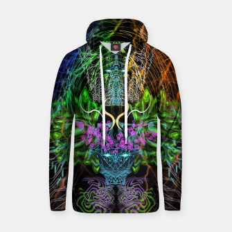 Thumbnail image of Psychedelic Rainbow, Eagle and Moose Hoodie, Live Heroes