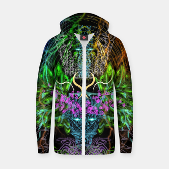 Thumbnail image of Psychedelic Rainbow, Eagle and Moose Zip up hoodie, Live Heroes