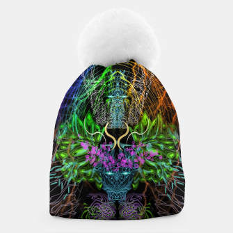 Thumbnail image of Psychedelic Rainbow, Eagle and Moose Beanie, Live Heroes