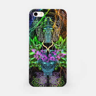 Thumbnail image of Psychedelic Rainbow, Eagle and Moose iPhone Case, Live Heroes