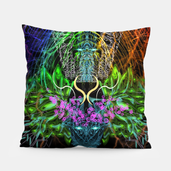 Thumbnail image of Psychedelic Rainbow, Eagle and Moose Pillow, Live Heroes