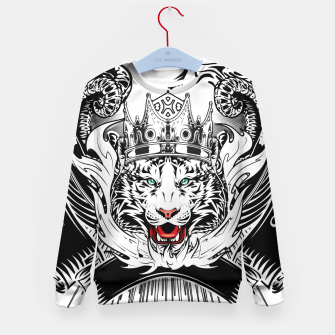 Thumbnail image of White Tiger King Tiger Art Emblem by Xzendor7 Kid's sweater, Live Heroes