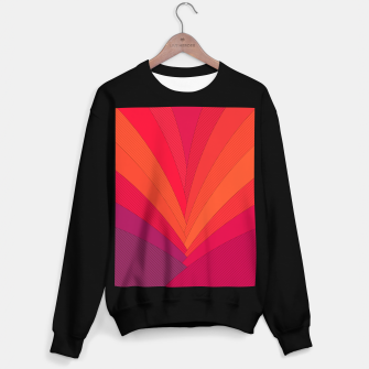 Thumbnail image of Palm tree, abstraction in hot orange peel and fuchsia colors Sweater regular, Live Heroes