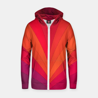 Thumbnail image of Palm tree, abstraction in hot orange peel and fuchsia colors Zip up hoodie, Live Heroes