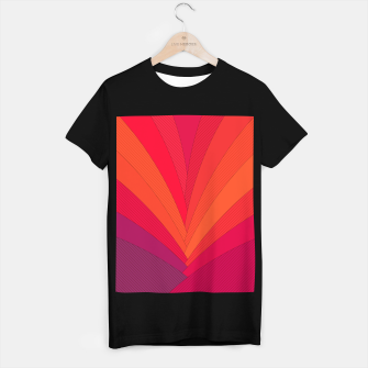 Thumbnail image of Palm tree, abstraction in hot orange peel and fuchsia colors T-shirt regular, Live Heroes
