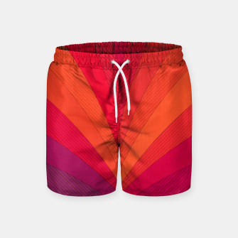 Thumbnail image of Palm tree, abstraction in hot orange peel and fuchsia colors Swim Shorts, Live Heroes