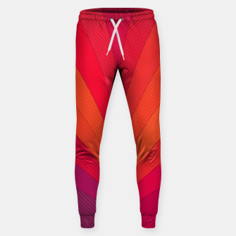 Thumbnail image of Palm tree, abstraction in hot orange peel and fuchsia colors Sweatpants, Live Heroes