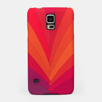 Thumbnail image of Palm tree, abstraction in hot orange peel and fuchsia colors Samsung Case, Live Heroes