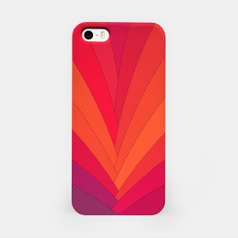 Thumbnail image of Palm tree, abstraction in hot orange peel and fuchsia colors iPhone Case, Live Heroes