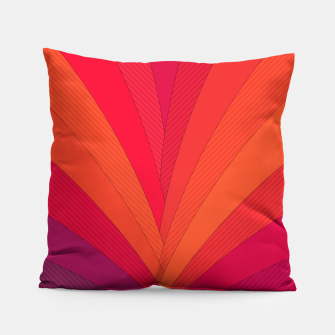 Thumbnail image of Palm tree, abstraction in hot orange peel and fuchsia colors Pillow, Live Heroes
