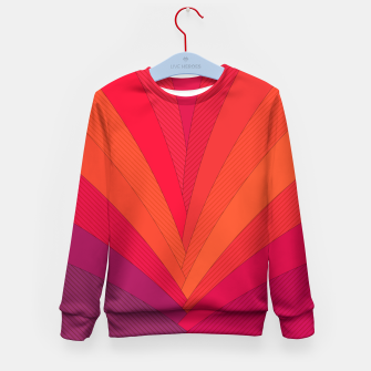 Thumbnail image of Palm tree, abstraction in hot orange peel and fuchsia colors Kid's sweater, Live Heroes