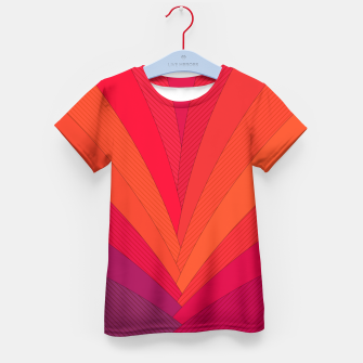 Thumbnail image of Palm tree, abstraction in hot orange peel and fuchsia colors Kid's t-shirt, Live Heroes