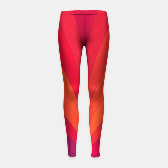 Thumbnail image of Palm tree, abstraction in hot orange peel and fuchsia colors Girl's leggings, Live Heroes