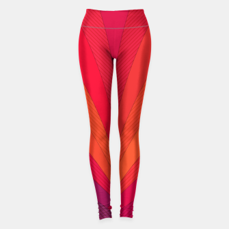 Thumbnail image of Palm tree, abstraction in hot orange peel and fuchsia colors Leggings, Live Heroes