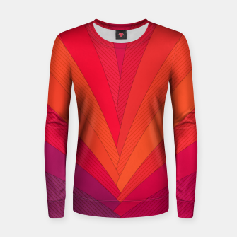 Thumbnail image of Palm tree, abstraction in hot orange peel and fuchsia colors Women sweater, Live Heroes