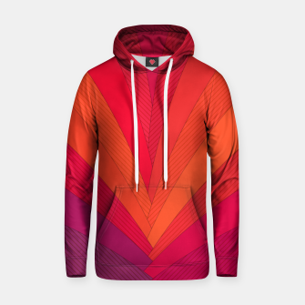 Thumbnail image of Palm tree, abstraction in hot orange peel and fuchsia colors Hoodie, Live Heroes