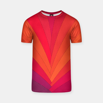 Thumbnail image of Palm tree, abstraction in hot orange peel and fuchsia colors T-shirt, Live Heroes