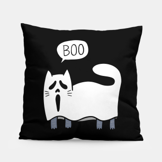 Thumbnail image of Ghost Cat Pillow, Live Heroes