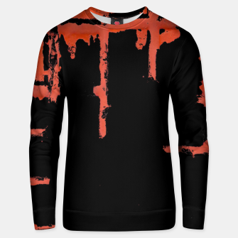 Thumbnail image of Red And Black Abstract Grunge Print Unisex sweater, Live Heroes