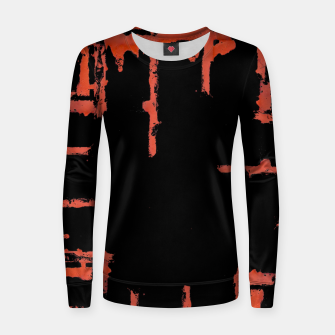 Thumbnail image of Red And Black Abstract Grunge Print Women sweater, Live Heroes
