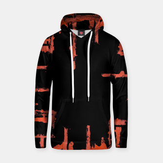 Thumbnail image of Red And Black Abstract Grunge Print Hoodie, Live Heroes